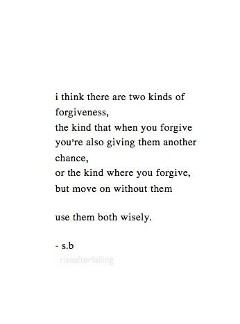 two types of forgiveness