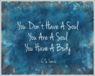 You are a soul with a body